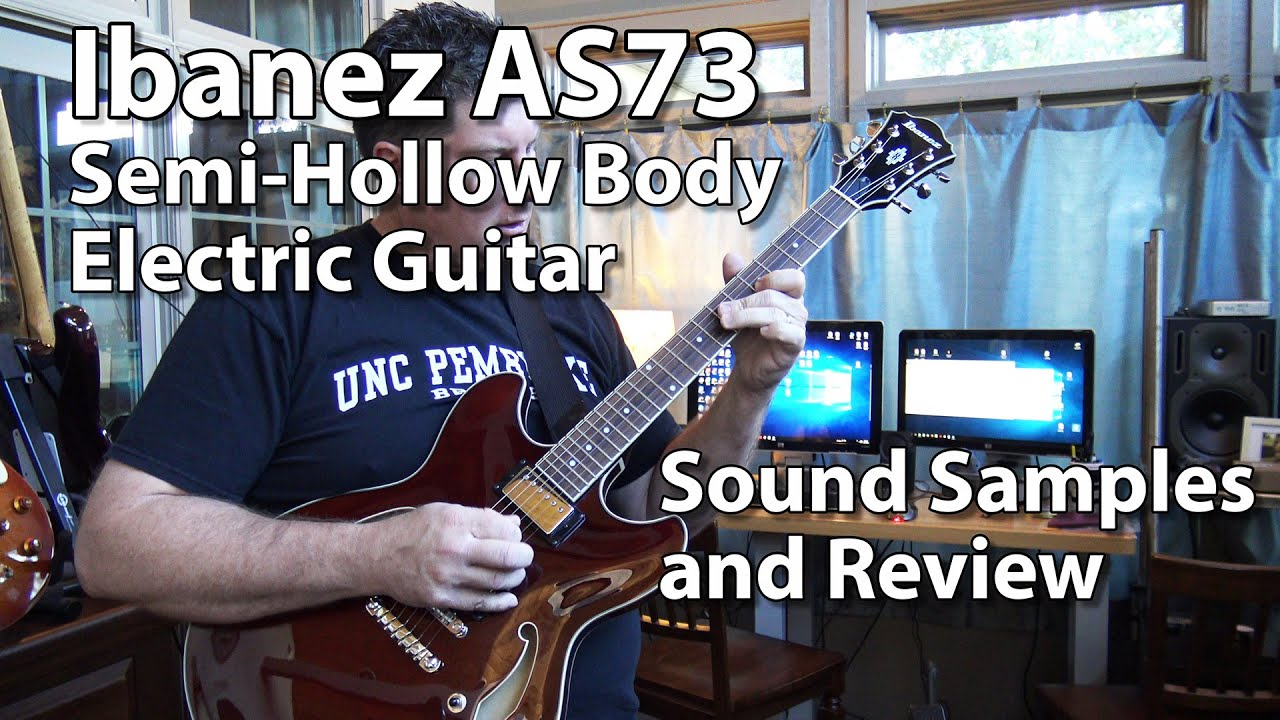 ibanez as73 semi hollow electric guitar review youtube