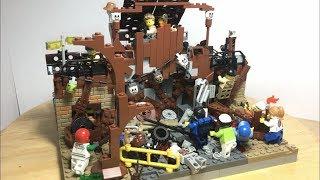 "Лего самоделка на тему зомби апокалипсис ""Блокпост рейдеров"""