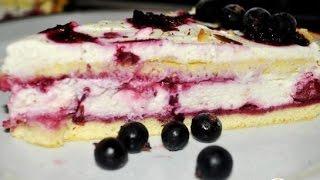 Торты рецепты. Бисквитный торт с маскарпоне и ягодами. Пошаговый рецепт с фото.