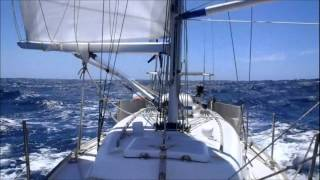 Solo Bass Strait sailing in a 30 foot boat.