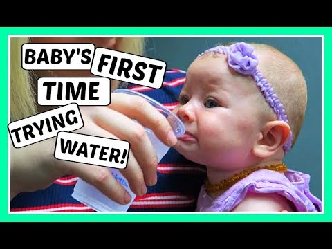 Thumbnail: BABY'S FIRST TIME TRYING WATER! (DAY 880)