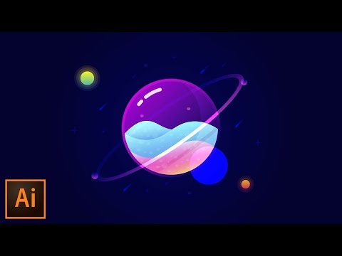 Glass Planet Vector Illustration – Adobe Illustrator Tutorial