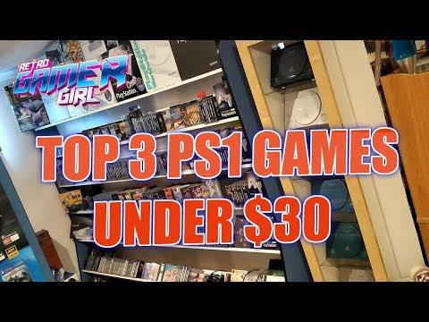 Top 3 PlayStation 1 Games Under $30 Each | Retro Gamer Girl