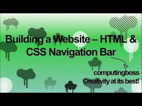 Building A Website - HTML & CSS Navigation Bars