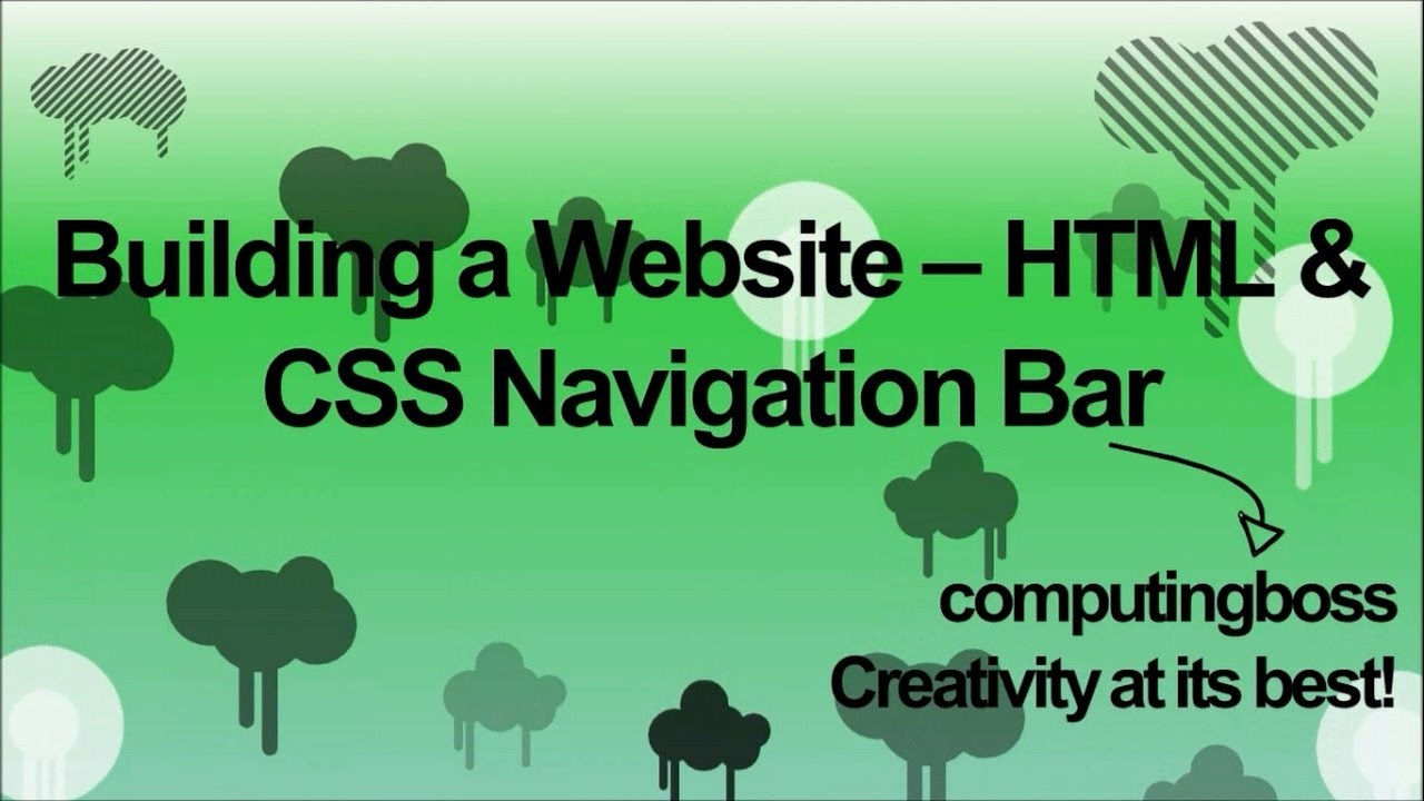 Building a Website - HTML & CSS Navigation Bars - YouTube