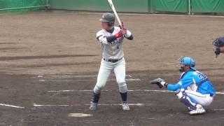 2017/03/05片山翔太(智辯和歌山高→関西学院大新3年生)第1打席