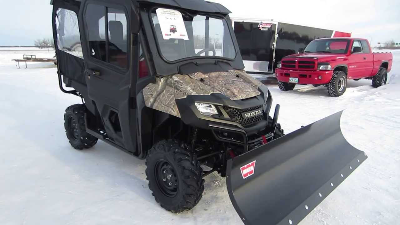 2014 honda pioneer 700 4 with workman cab 72 warn blade and 4000lb warn winch youtube