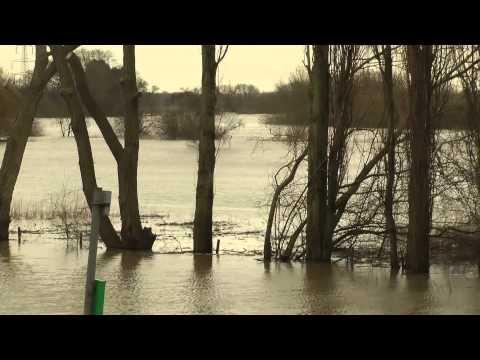 The floods at Church Laneham,Nottinghamshire on 14-02-2014