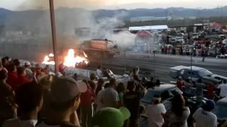 Jet Funny Car Burns Cars