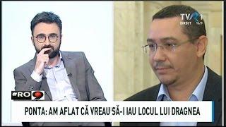 Victor Ponta, în direct la TVR1: Nu vreau funcţii (#România9)
