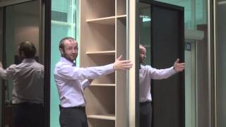 видео Радиусный комплект шкафов-купе №4