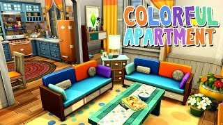 Colorful Apartment || The Sims 4 Apartment Renovation: Speed Build