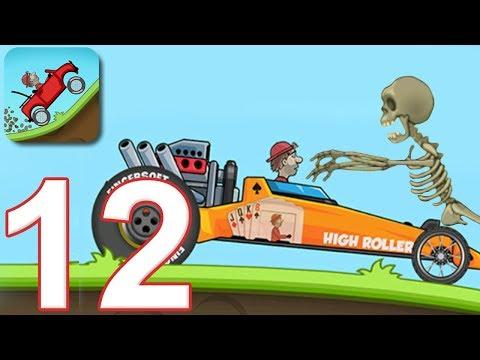 HILL CLIMB RACING - Walkthrough Gameplay Part 11 - NEW CAR DRAGSTER (iOS Android)