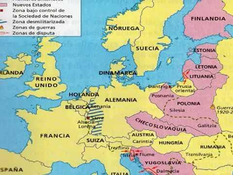 Nuevo Mapa Europeo Tras La Primera Guerra Mundial Youtube