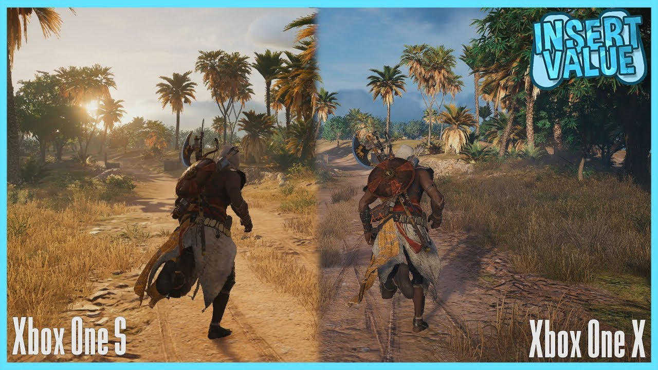 Assassin S Creed Origins Xbox One X Vs Xbox One S 4k Gameplay