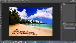 Видеоурок Photoshop CS6 надпись на пляже урок №22