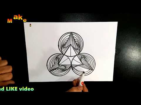 DRAW 3D SPIRAL DRAWING...Watch this video aloud or headphones
