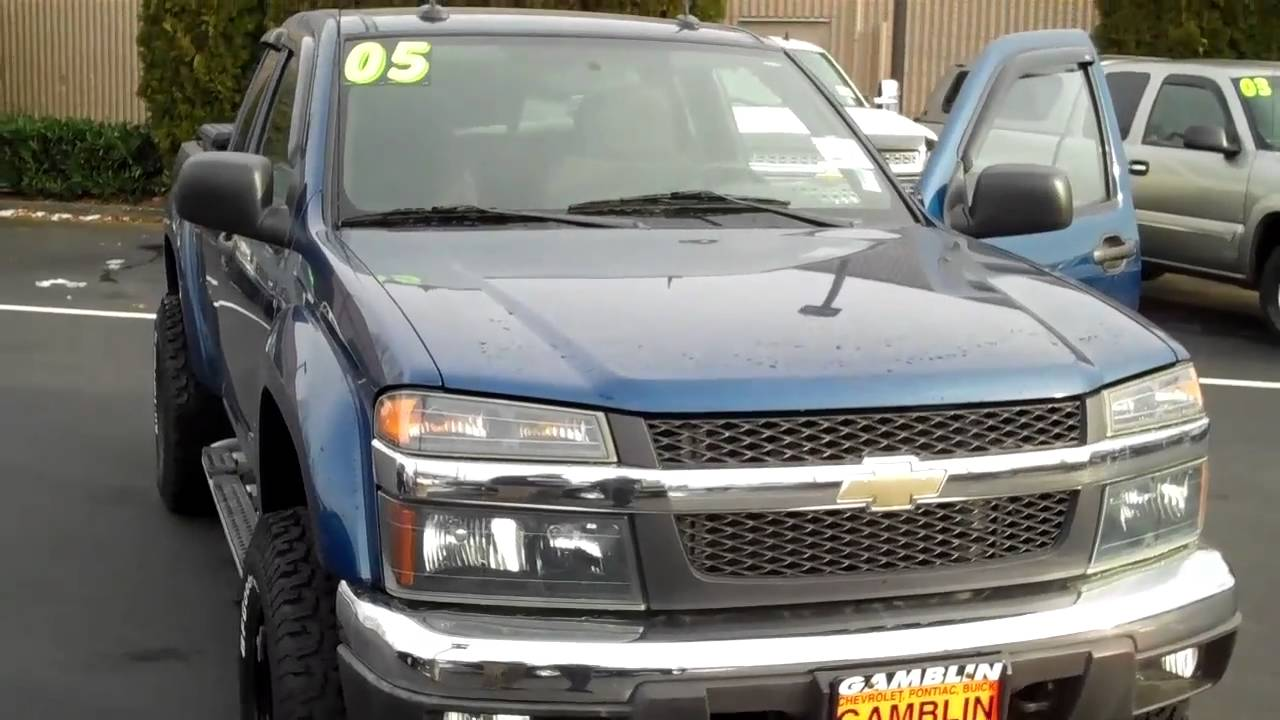 sold-2005 chevrolet colorado extended cab z71 4x4 art gamblin