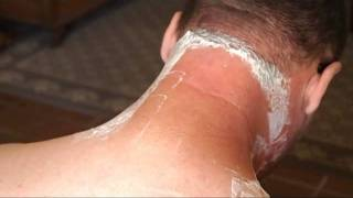 Neck Shave with a Little Razor