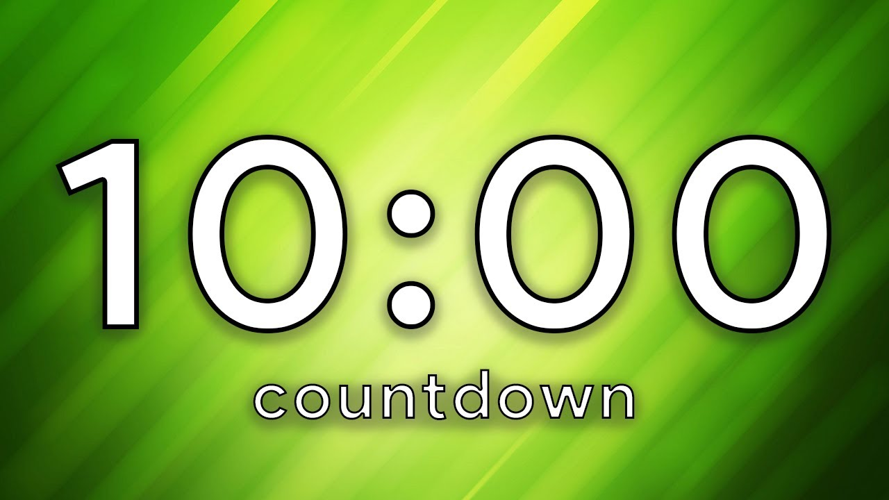 Free 10 Minute Countdown Timer Green Screen No Music No Ads Youtube