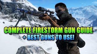 Complete Firestorm Gun Guide - Best Weapons! | Battlefield V
