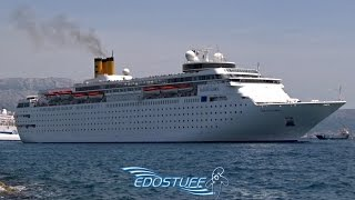 Costa neoClassica departing Port of Split - Croatia HD