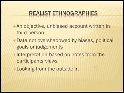 personal ethnography A researcher uses tenets of autobiography and ethnography to do and write autoethnography thus, as a method narrative ethnography personal narrative.