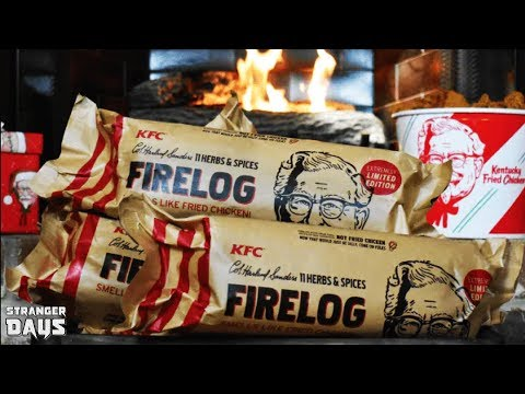 KFC unleashes the 11 HERBS & SPICES Fire Log once again...