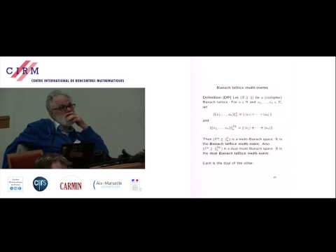 Harold Dales: Multinorms and Banach lattices