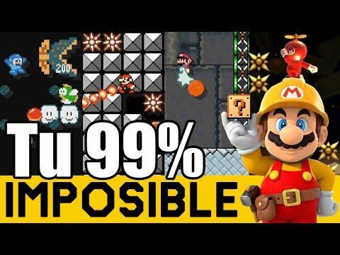 COSAS MUY LOCAS PASAN AQUÍ 😵 - 99% IMPOSIBLES de Suscriptores #26 | Super Mario Maker - ZetaSSJ
