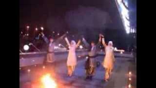 """Огненное шоу, фаер шоу в арабском, восточном стиле от шоу-театра """"Экстример, Москва."""