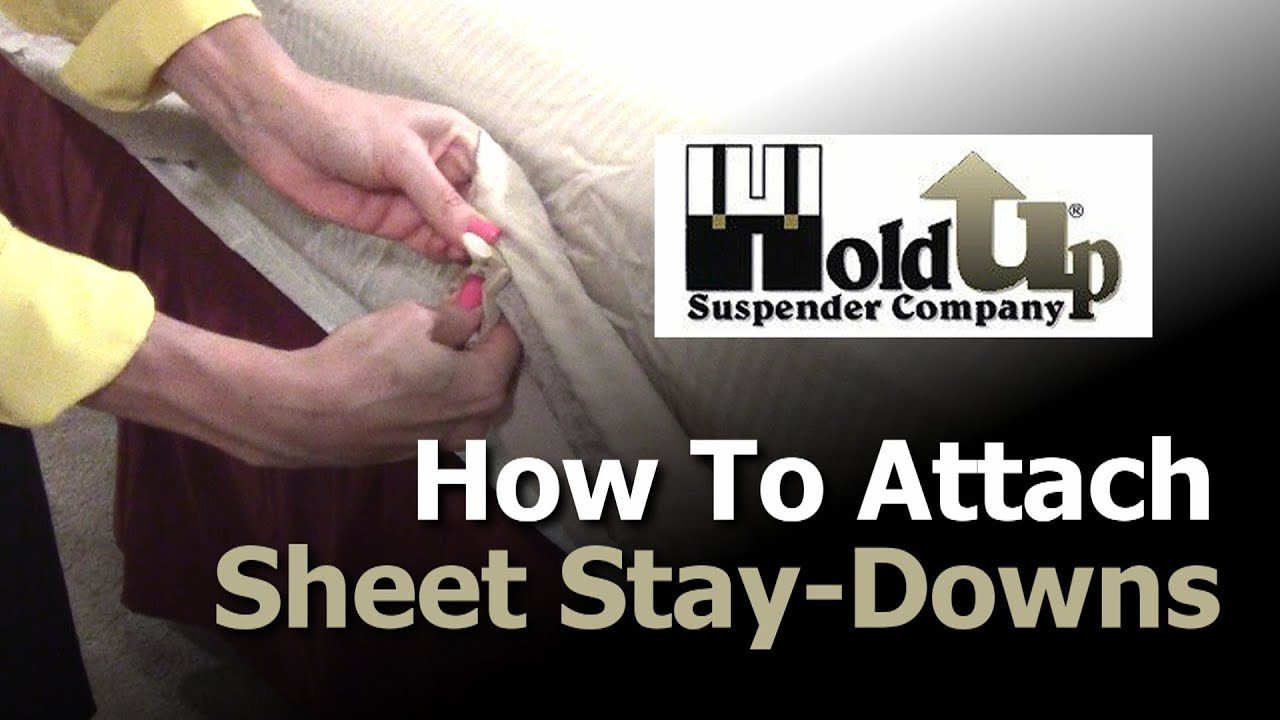 How To Attach Sheet Straps Bed Sheet Holders And Sheet