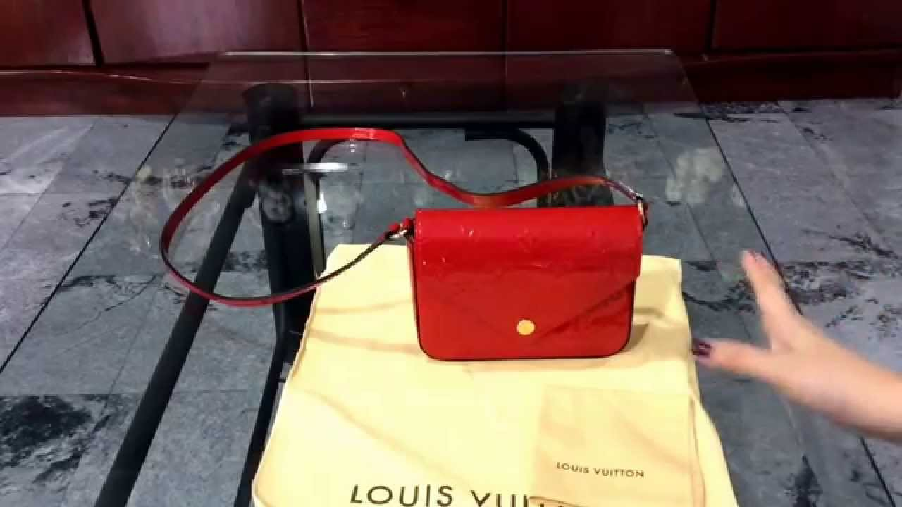 3a4024d63eb5 Review   What fits in my bag  Louis Vuitton Mini Sac Lucie in Cerise Vernis.  - YouTube