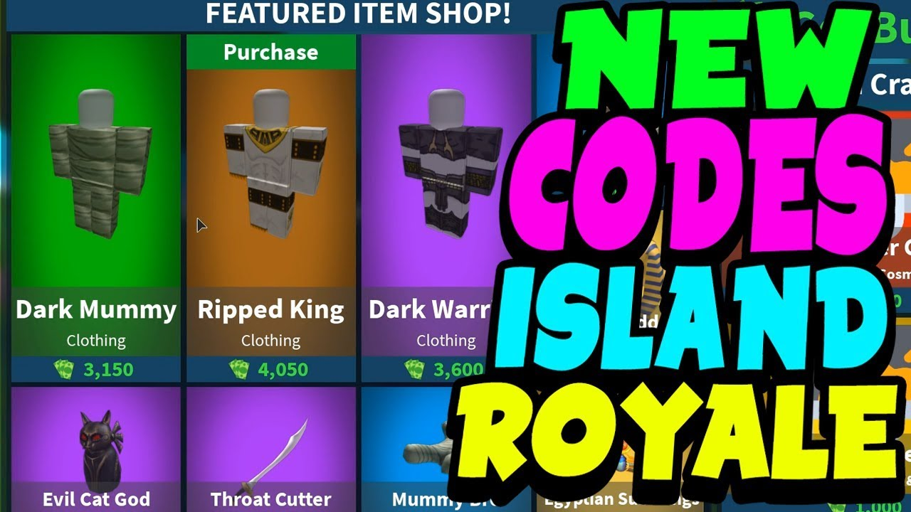 *NEW* CODES ON ISLAND ROYALE! (MARCH 2019) - YouTube