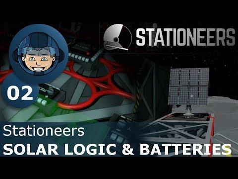SOLAR LOGIC & BATTERIES - Stationeers: Ep. #2 - Gameplay & Walkthrough