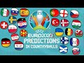 UEFA EURO 2020 (2021) Predictions in Countryballs