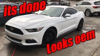 Rebuilding a wrecked 2017 mustang part 4