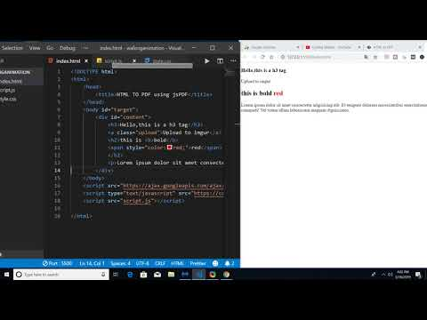 JsPDF Tutorial | Converting HTML To PDF In JsPDF