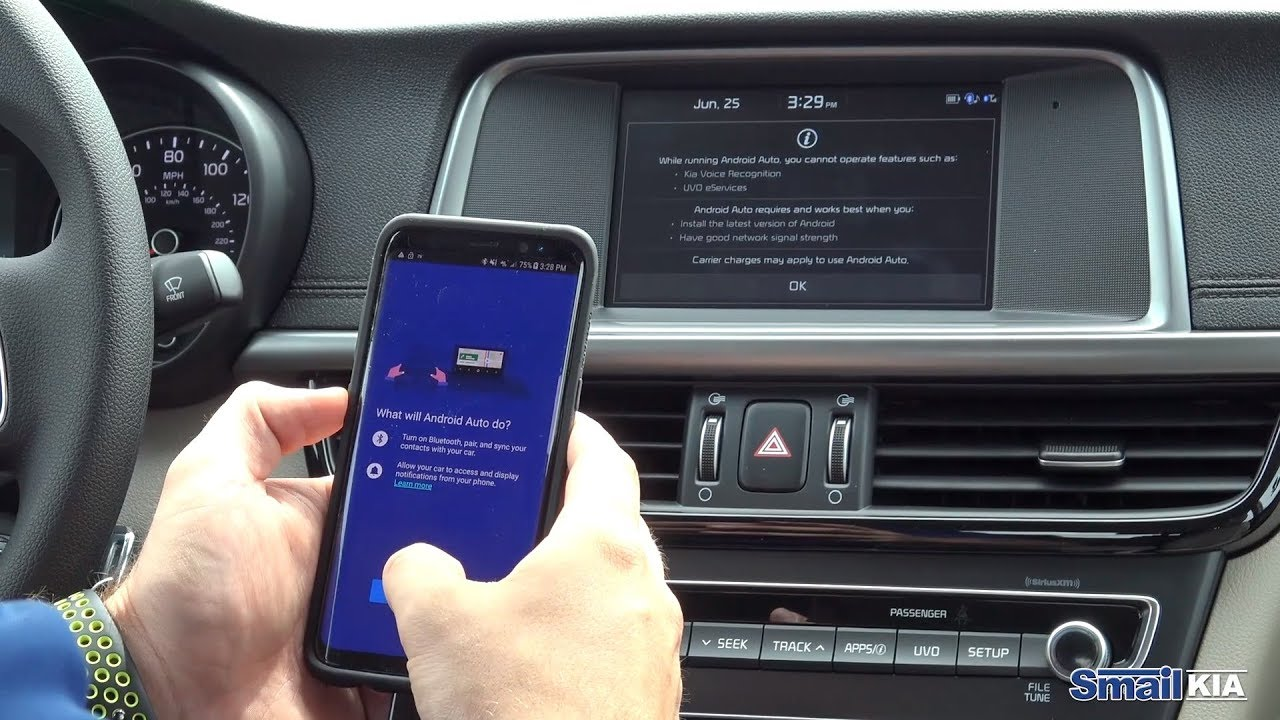 Connect Your Phone With Android Auto To New Kia