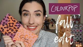 ColourPop FALL EDIT 2018 | Good Sport + Crush On You Palettes | Swatches & Demos