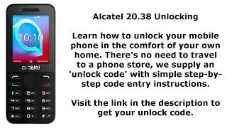 💌 Alcatel one touch 2052x unlock code free | Alcatel One Touch