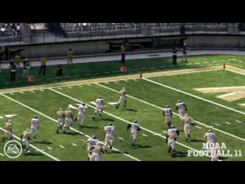 NCAA 11 Dynasty Year 1 - Josh Robinson pick-six vs. Buffalo