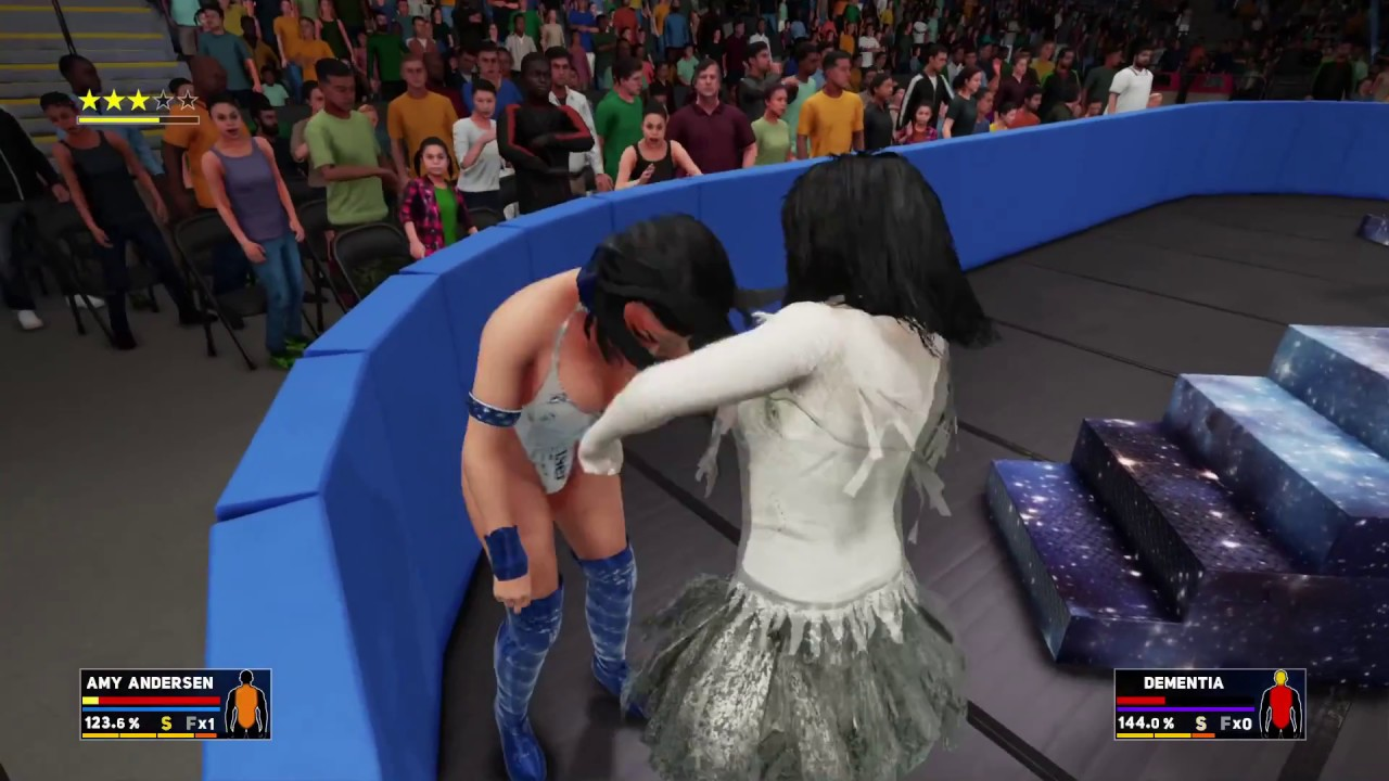amy anderssen wrestling dementia in wwe2k18 - youtube