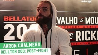 """Aaron Chalmers: """"Fucking hell, another first round finish"""""""
