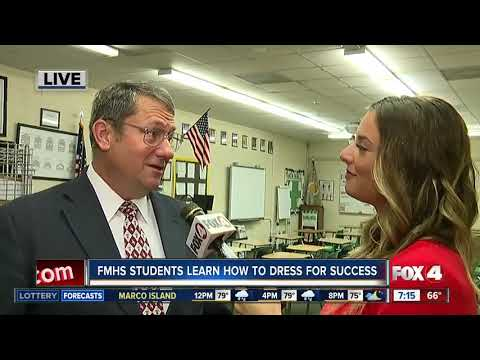 """Students at Fort Myers High School participate in """"Dress for Success"""" event"""