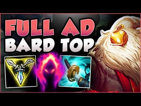 STOP PLAYING BARD WRONG! FULL AD BARD TOP TOO OP! BARD SEASON 8 TOP GAMEPLAY! - League of Legends