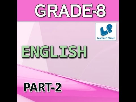 Grade 8 english grammar quiz for cbse tutorials