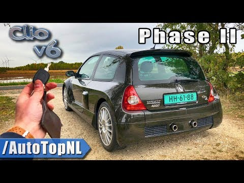 RENAULT CLIO V6 PHASE II REVIEW POV Test Drive by AutoTopNL