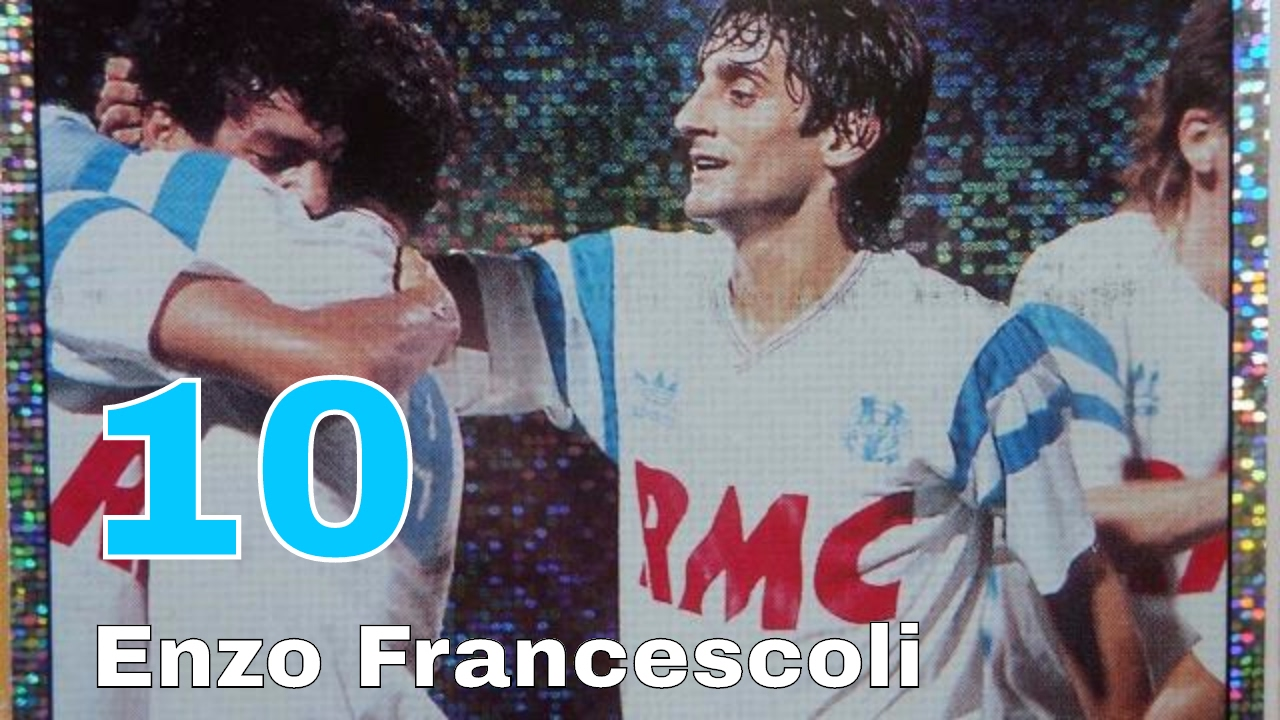 Enzo Francescoli Number 10 of Olympique De Marseille