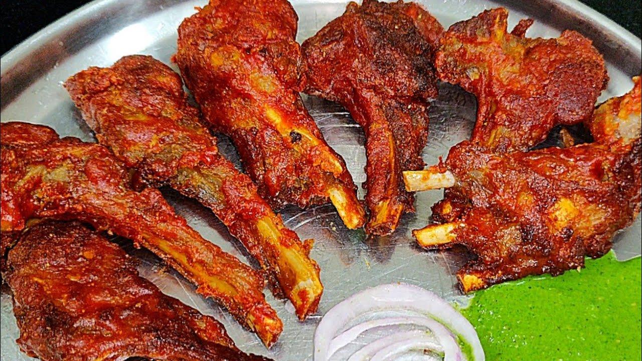 Chap fry mutton chops fry   restaurant style mutton fry   mutton starter   eid dawat special